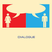 Dialogue — Stock Vector