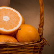 Half an orange — Stock Photo