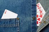 Gambling and Denim — Stock Photo