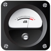 Measurement of sound intensity — Stock Vector