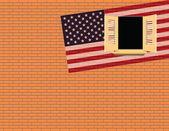 Flag USA — Vettoriale Stock
