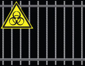 Grate biological hazard — Stockvektor