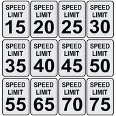 Speed limit — Stock Vector