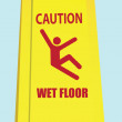 Stock Vector: Wet Floor - Caution