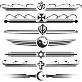 Religious symbols — Stock Vector