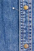 Pins on Denim — Stock Photo
