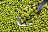 Spoon of Green Peas — Stock Photo