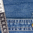Denim and Measuring Tape — Stock Photo