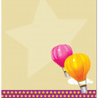 Label with a balloons - Stock Vector