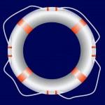 White lifebuoy — Stock Vector #13734879