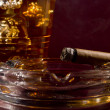 Cigar and Whiskey - Stock Photo