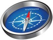Směr štěstí — Stock vektor