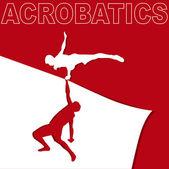Applique on acrobatics — Stock Vector