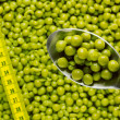 Spoon of Green Peas — Foto Stock