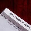 Secrecy envelope - Stock Photo