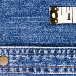 Measuring Tape on Denim — Stock Photo #14462981