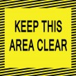 Keep this area clear — Vettoriali Stock
