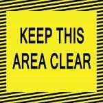 Постер, плакат: Keep this area clear