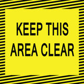 Hålla detta område tydligt — Stockvektor