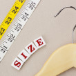 Hanger and Measuring Tape — Stock Photo #14635487