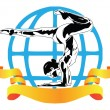 International sports acrobatics — Stock Vector