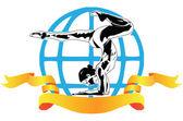 International sports acrobatics — Stock Vector