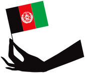 アフガニスタンのフラグを手に — ストックベクタ