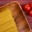 Tomatoes and Pasta — Stockfoto