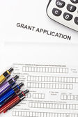 Grant Application — Stock Photo