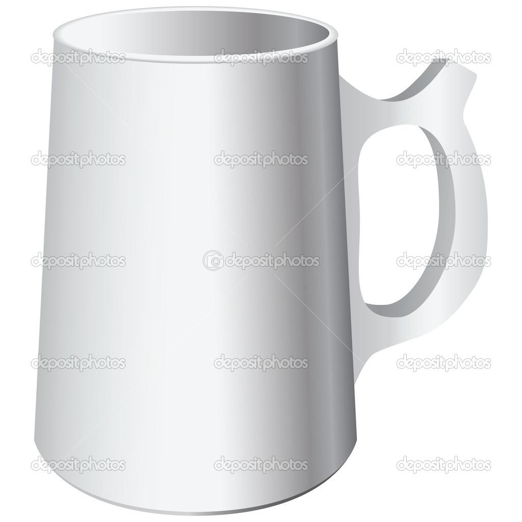用木棍的陶瓷杯。矢量插画 #82114142