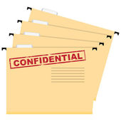 Confidential documents — Stock Vector