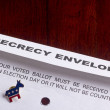 Stock Photo: Secrecy envelope