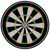 Target for darts — Stock Vector