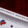 enveloppe de vote secret — Photo