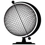 Geographic tools - Globe — Stock Vector