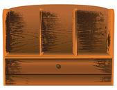 античная стена шельфа — Cтоковый вектор