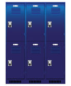 Individual locker — Stock Vector