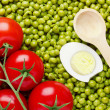 Peas and Tomatoes — Stockfoto