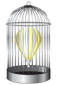 Jaula de pájaro del globo — Vector de stock