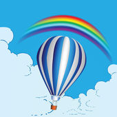 Balloon and rainbow — Stock Vector
