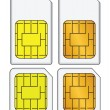 Set of SIM cards — Stock Vector #19620675