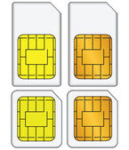 Set of SIM cards — Stock Vector