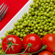 Tomatoes and Peas — Stock fotografie