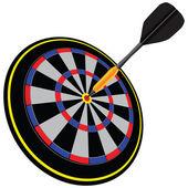 Arrow in the target — Stock Vector