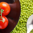 Tomatoes and Peas — Stock Photo