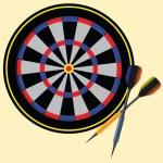 Target darts — Stock Vector #21623515
