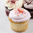 Vanilla Cupcake - Stock Photo