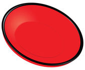 Red plate — Stock Vector