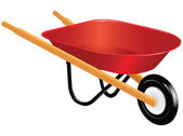 Wheelbarrow — Stock Vector