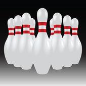 Set of bowling pins — Stock Vector